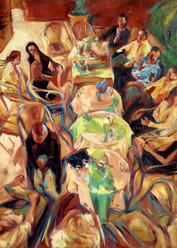 After Dinner Drinks - Oil on Canvas 32x44