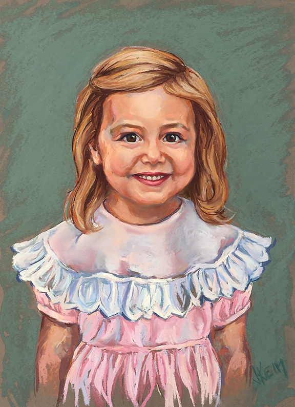 Charlotte - Pastel on Wallis Paper 18x24
