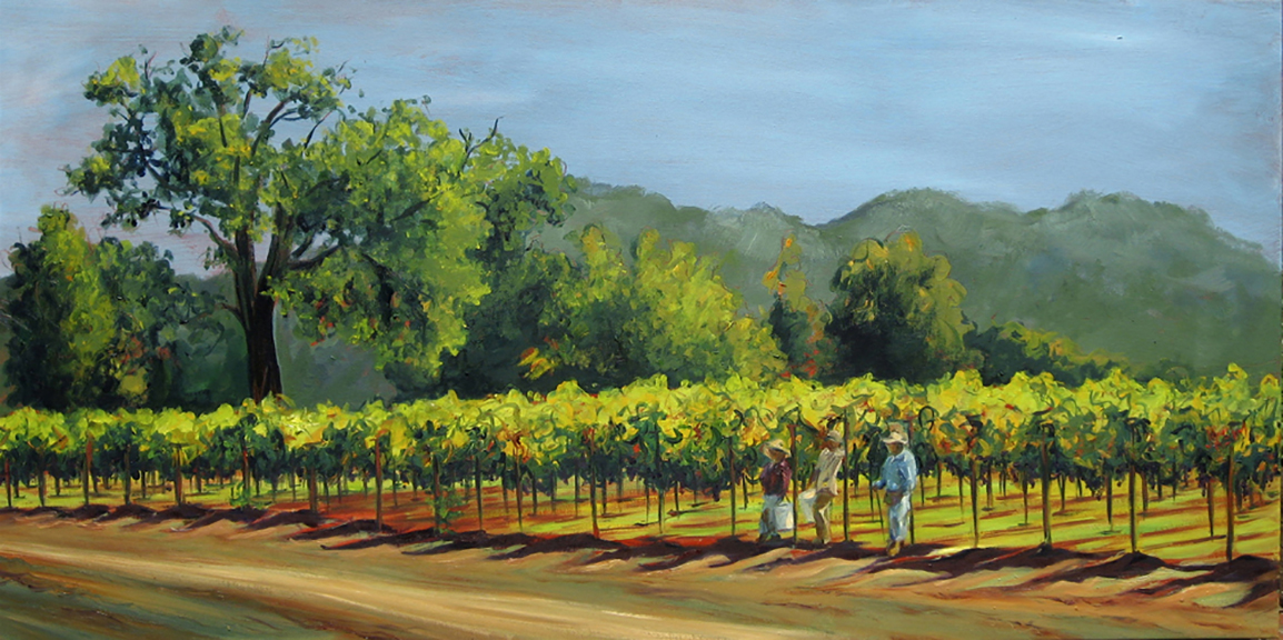 Fall Harvest Napa Valley - Oil 48x24