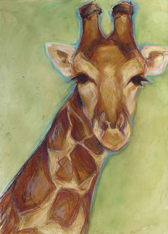 Giraffe - Mixed Media 22x30