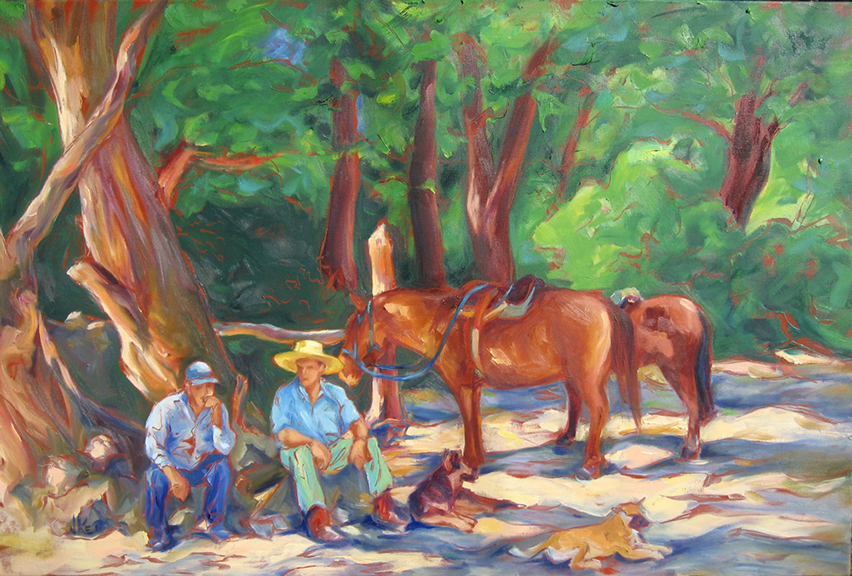 Horseback in the Andes - Oil 36x24