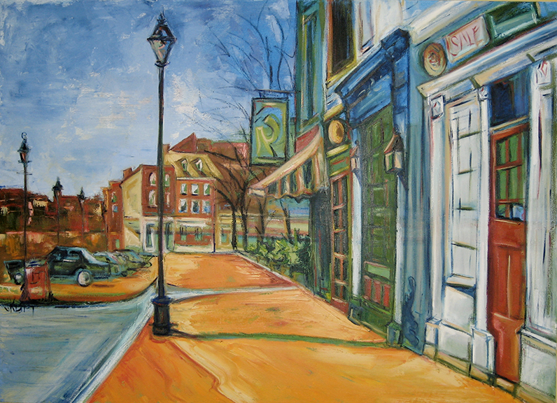 Jennifer's Street - Oil 48x66