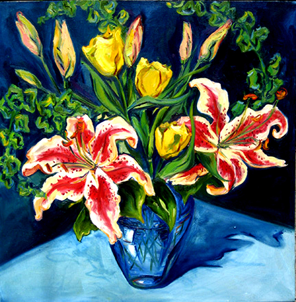 Lily Arrangment - Oil 36x36