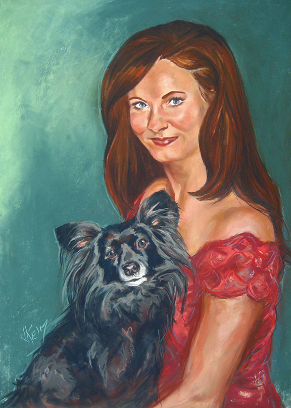 Shelly & Gracie - Pastel 24x36