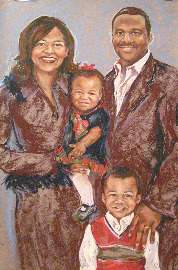 Family Portrait - Pastel on Wallis Paper 24x36