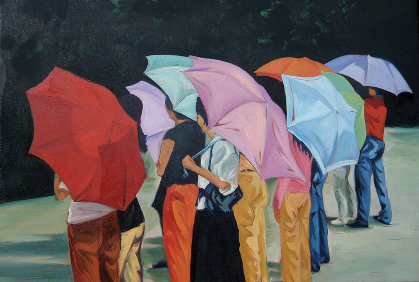 Umbrellas - Oil 24x36