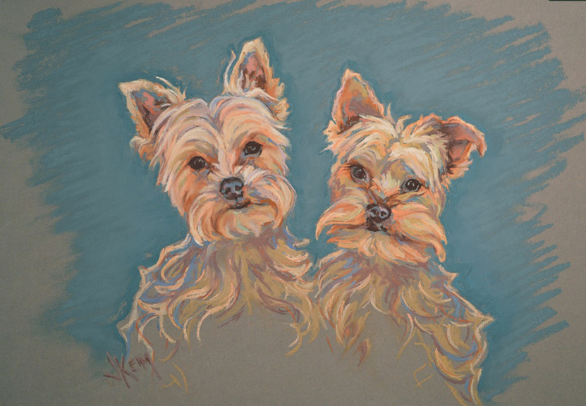 Winston & Spencer Portrait - Pastel on Wallis Paper 36x36