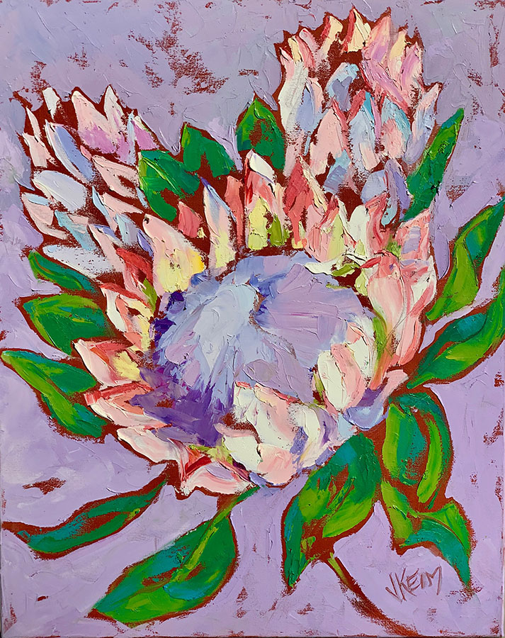 King Protea I, 24x30, Oil on Canvas